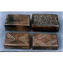 """4'' x 6""""Square Wooden Jewelley Box Decorative Design"""