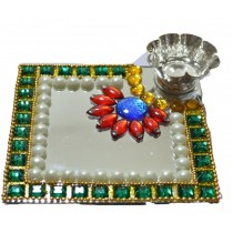 Square Shape Kundan Floating Lamp