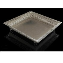 Square Silver Plate Tray