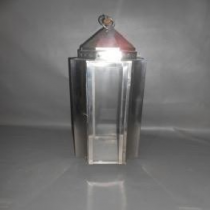 Stainless Steel Lantern with Glass