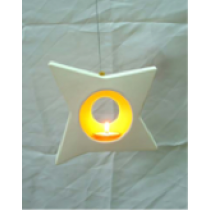 Sparkling Star Ceramic Hanging Candle Holder