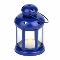 Star Spangled Blue Metal Lantern