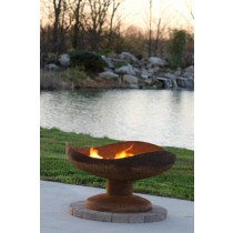 Steel Bowl Shape Fire Pit with Pedestal Base