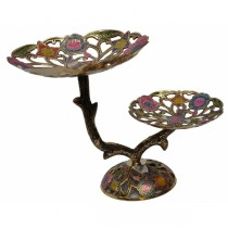 Stylish 2 In 1 Brass Fruit Stand