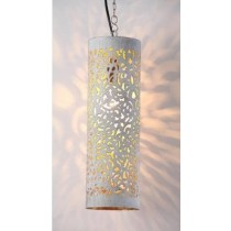 Tall Circular Hanging lamp with net Etch
