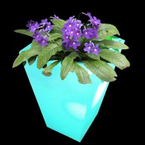 Tapered Square Unique Led Plastic Planter