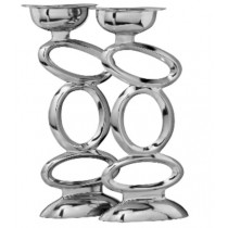 Three Oval design double candle holder