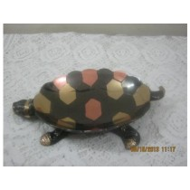 Tortoise Bowl Colored Work 8""