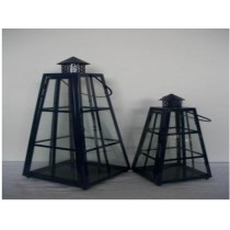 Tower shape Iron with glass lantern Size-14'