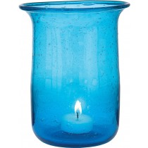 Transparent Blue Candle Holder