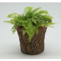 Durable Wood Finish 14 cm Fiberglass Pots