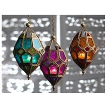 Moroccan Style Two Color Hanging Lanterns