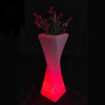 Unique Design Flower Vase Style Led Planter