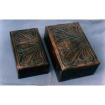 Large Walnut Wooden Handicraft Decorative Box 7'' x 5''