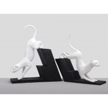 White colored animal bookends