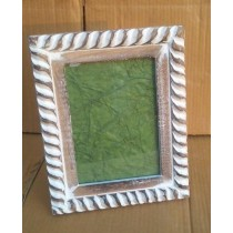 Whitewashed Decorative Wooden Photo Frame