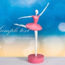 Beautiful pink ballet dancing girl craft desktop decoration home decoration