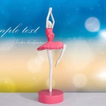 Best gift pink environmental resin ballet a dancing girl craft festival gift