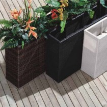 Wicker Multi Color Rattan Planter