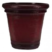 Wine Red Finish 12 Inch Height Plastic Planter