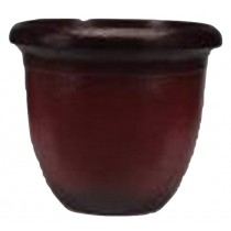 Wine Red Finish 21 Inch Height Plastic Planter
