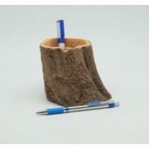 Unique Wood Finish 12 cm Fiberglass Pots