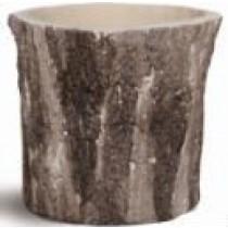 Natural Wood Finish 8.5 Cm Fiberglass Pots