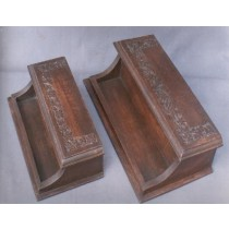 10''x 6''Wooden Brown Business Item Blanks Stand