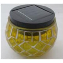Yellow-glass and plastic material indoor solar light