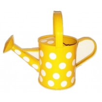 Yellow Watering Can With Polka Dot