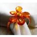 orange  colour flower napkin rings