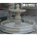 White Curved One Tiered Marble Water Fountain