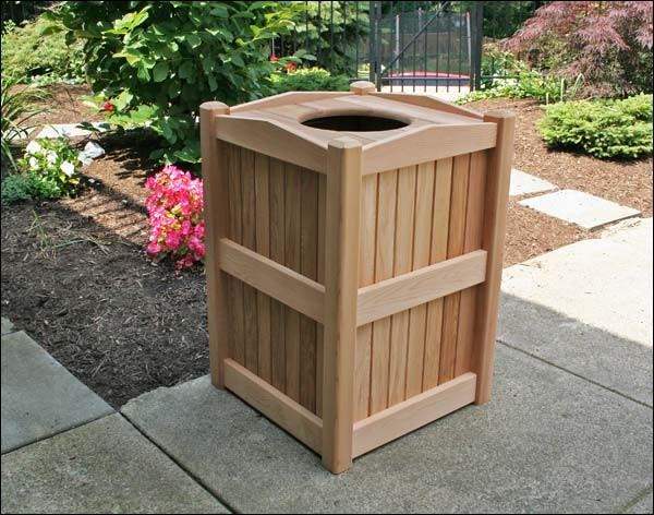 72157626568899670 additionally Garbage Can Cover Up Outside as well Rectangular Swivel Lid Waste Receptacle p 1591 besides Covington Recycling And Waste  bo p 856 likewise Diy Wooden Pallet Trash Can Holder. on decorative outdoor trash cans